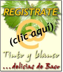 Registrese en Delicias de Baco